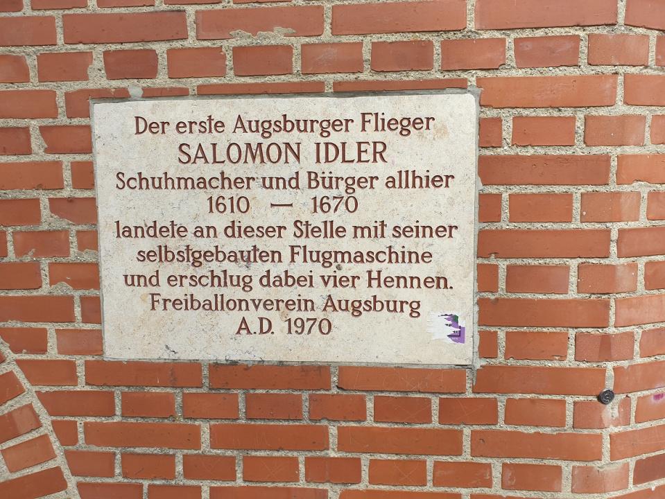 Salomon Idler oder das Fliegen in Augsburg - Die Gästeführer -  Serviceportal des BVGD